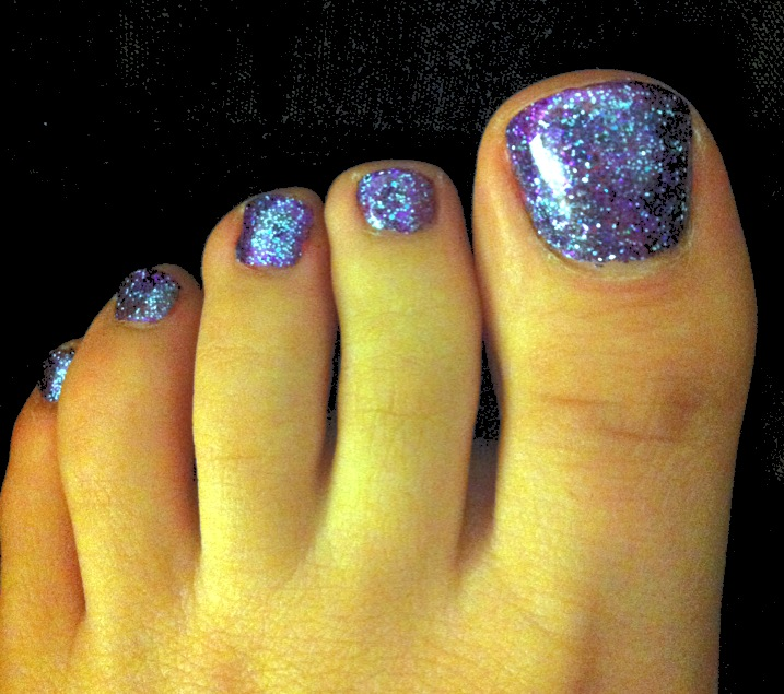 Glitter Toes Colors Glitter Toes Using Shellac