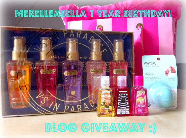 Merelleabella one year blog giveaway
