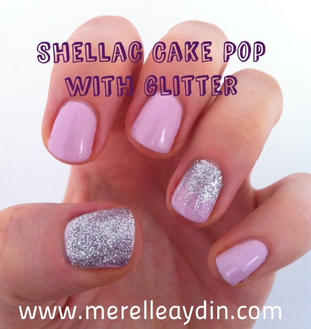 Shellac cake pop with glitter